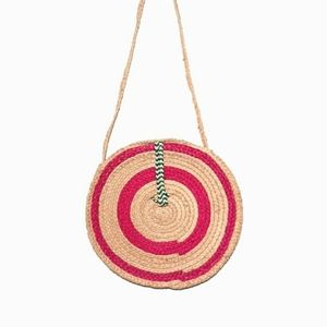 Straw Rattan Woven Circle Boho Shoulder Bag Purse